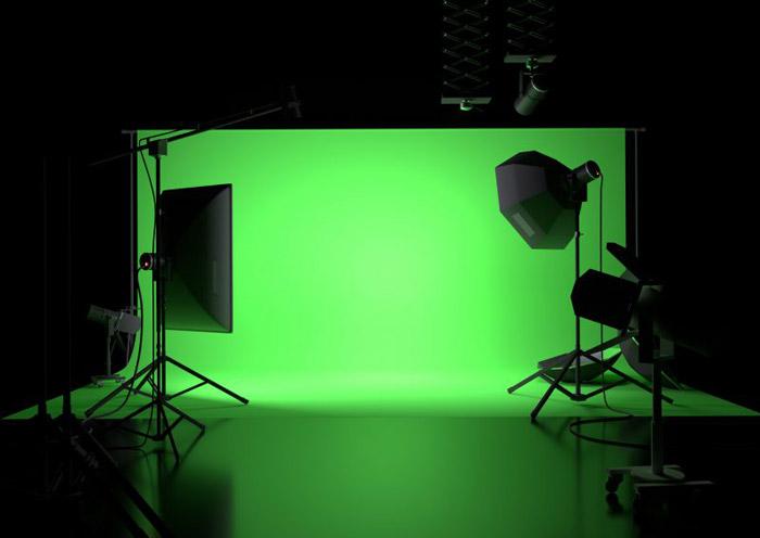 Fond vert pour photobooth