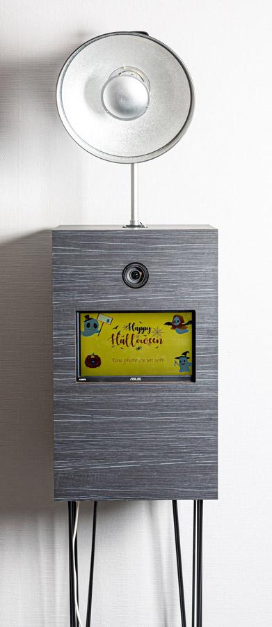 Photobooth avec flash et écran d'accueil